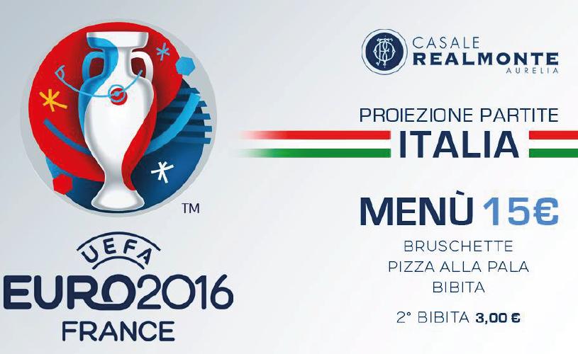 Euro2016 Italia Irlanda Maxischermo e Pizza a Casale Realmonte